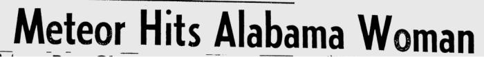 Meteor Hits Alabama Woman